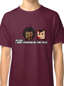 Toon Quote : Pulp Fiction - I Shot Marvin in the Face Classic T-Shirt