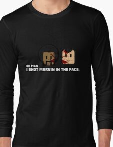 Toon Quote : Pulp Fiction - I Shot Marvin in the Face Long Sleeve T-Shirt