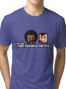 Toon Quote : Pulp Fiction - I Shot Marvin in the Face Tri-blend T-Shirt