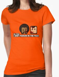 Toon Quote : Pulp Fiction - I Shot Marvin in the Face Womens Fitted T-Shirt