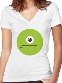 GREEN MONSTER Women's Fitted V-Neck T-Shirt