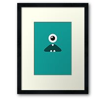 TURQUOISE MONSTER Framed Print