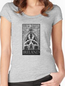 Saint and trinity window Women's Fitted Scoop T-Shirt