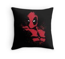 Merc in Red (black Tee) Throw Pillow