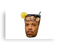 Just some Ice Tea with Ice Cubes Canvas Print