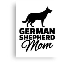German shepherd Mom Canvas Print