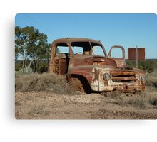 Old truck atop Kangaroo Hill - Lightning Ridge, NSW Canvas Print