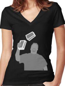 Box Manipulator Women's Fitted V-Neck T-Shirt