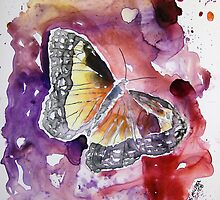 Monarch butterfly yupo painting by derekmccrea