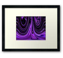 Purple Ribbon Flow Art Framed Print