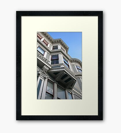 San Francisco Bay Window, Haight Ashbury, Victorian Heritage Framed Print