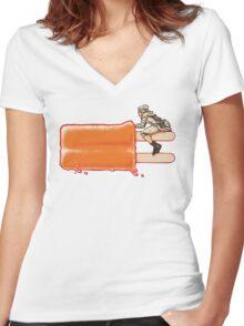 Popsicle Landspeeder Women's Fitted V-Neck T-Shirt