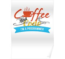 programer : coffee and code Poster