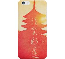 Happy New Year Vermillion Sunset Pagoda iPhone Case/Skin