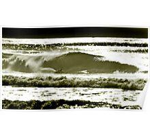 kneeboard surfing.simon farrer Poster