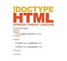 web design - HTML Photographic Print