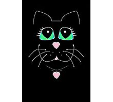 Cat With Sweet Heart Pendant Photographic Print