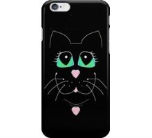 Cat With Sweet Heart Pendant iPhone Case/Skin