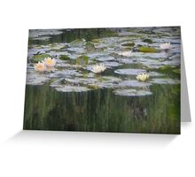 Impressionistic Water Lilies  Greeting Card