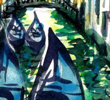 gondolas in venice2 Sticker