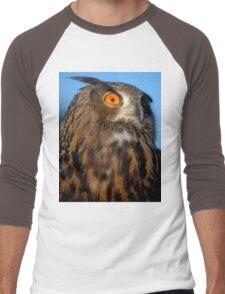 Eurasian Eagle Owl Men's Baseball ¾ T-Shirt
