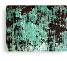Copper Patina Grunge Texture Canvas Print