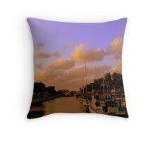 intracoastal canal Throw Pillow