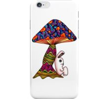 Rabbit by a Mushroom iPhone Case/Skin