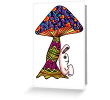 Rabbit by a Mushroom Greeting Card