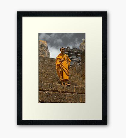 Pilgrim - Cambodia Framed Print