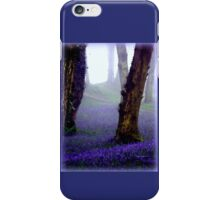 Bluebells in the Mist iPhone Case/Skin