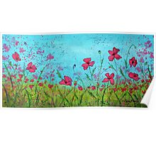 Playful Poppies of Provence Poster