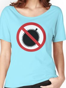 NO Durian Tropical Fruit Sign Women's Relaxed Fit T-Shirt