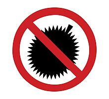 NO Durian Tropical Fruit Sign Photographic Print