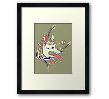 As they hooked you up to the oxygen tanks Framed Print