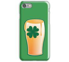 IRISH shamrock pint glass iPhone Case/Skin