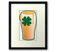 IRISH shamrock pint glass Framed Print