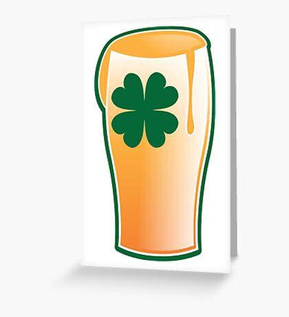 IRISH shamrock pint glass Greeting Card