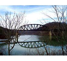prickett forts train bridge  Photographic Print