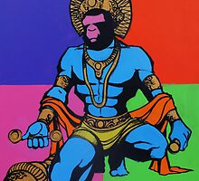 HANUMAN inspired by Andy Warhol by Kos Cos