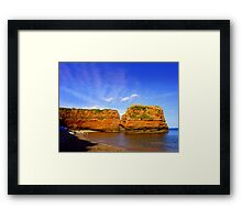 Red Rock in Sea Framed Print