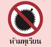 NO Durian Tropical Fruit Sign ~ Thai Language Script Kids Clothes