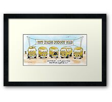 Colour Me Yellow Framed Print