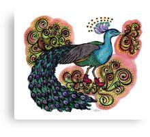 Sneaky Sneaker Peacock Canvas Print