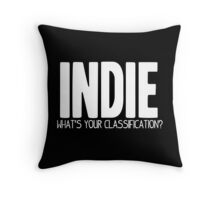 What's Your Classification? | Indie Throw Pillow