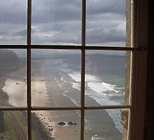 Mussenden view from the west window by Les Magee