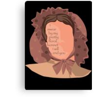 Firefly Floral Bonnet  Canvas Print