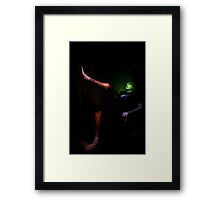 Portrait with painted light Framed Print