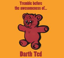 """Darth Ted: Awesomeness"" cartoon tee shirt by Jason Towers"
