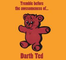 """Darth Ted: Awesomeness"" cartoon tee shirt by Jason Towers"